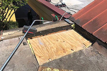 Commercial roof repair example